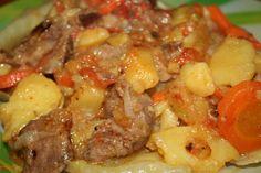 Домлама одно из моих любимых блюд, своеобразная восточная пицца, мясо и много овощей, что найдется дома. Сегодня мы используем вот такой рецепт домламы.