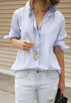 Chambray shirt + denim