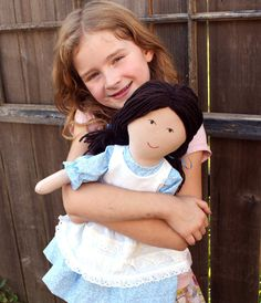 """PDF Pattern  Playful Prudence Large Rag Doll Sewing by artistry. , via Etsy.  THIS DOLL FITS 18"""" DOLL CLOTHES"""