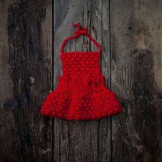 Newborn photo prop/ Red baby dress/ Newborn by GabriCollection
