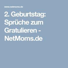 2. Geburtstag: Sprüche zum Gratulieren - NetMoms.de