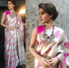 Tagline for the saree: Hathi Ghoda Palki..