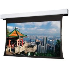 """Tensioned Advantage Deluxe Electrol Da - Mat Projection Screen - 57.5"""" x 92"""" 16:10 Wide Format by Da-Lite. $3633.99. 70068 Features: -Tensioning system provides an extra flat surface for optimum image quality.-Handsome white case and closure doors provide a clean look and allow easy installation of ceiling tiles.-Meets Underwriters Laboratories (UL) Plenum Testing Standards for use in air handling spaces.-Standard with built-in Low Voltage Control.-109"""" Diagonal.-Scree..."""