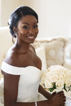 30 Beautiful Wedding Hairstyles For African American Brides Bride Hairstyles African American Beautiful brides Hairstyles Wedding Black Bridal Makeup, Bridal Hair And Makeup, Black Brides Hairstyles, Formal Hairstyles, African American Brides, American Girl, American Women, Short Hair Styles, Natural Hair Styles