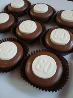 12 Milk Chocolate Dipped Oreo Cookies 80 Eighty Eightieth Birthday Party Favors Candy on Etsy, $24.00