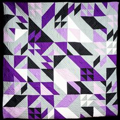 Rebel Quilt pattern by Libs Elliot in TCU colors