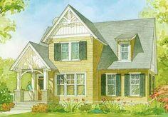 Small house, big charm. Ellsworth Cottage, plan #1351