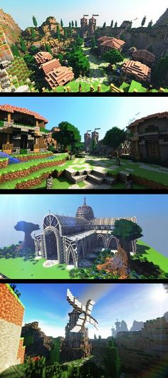 Amazing builds, minecraft