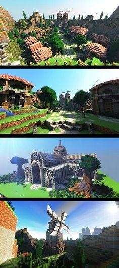 Amazing builds, minecraft