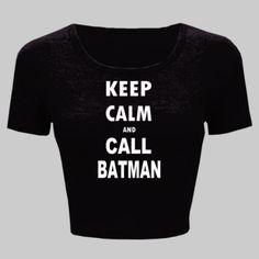Keep Calm and Call Batman - Ladies' Crop Top