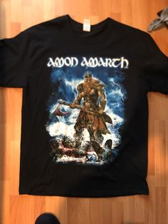 AMON AMARTH logo model-9 tshirt BLACK clothing shirt toddler children BAND MUSIC