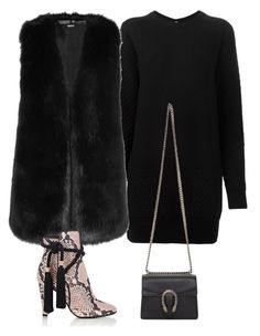 """""""Outfit #519"""" by valeriatrav ❤ liked on Polyvore featuring Proenza Schouler, DKNY, Philosophy di Lorenzo Serafini and Gucci"""