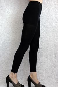 Signature Cotton Leggings - Now in a true plus size too!  These are great on guys (black plus image) as well as us girls...   Comfortable & sleek, these combed cotton leggings are made with an ultra fine yarn & high needle count and a seamless leg for an exceptionally smooth feel.  We tried them and love them, we hope you'll agree!