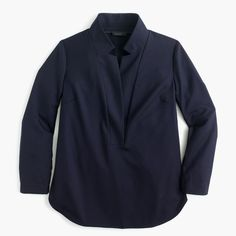 Popover shirt in Super 120s wool