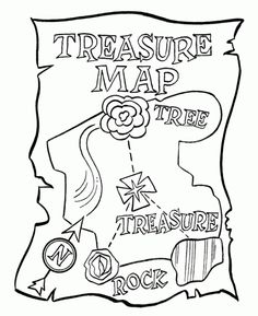 my nephew loves coloring pages dealing with pirates maps and treasure so i figured there are probably lots of other kids out there that a - Pirate Treasure Map Coloring Page