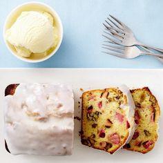 Rhubarb-buttermilk tea cake for dessert Frosting Recipes, Cake Recipes, Dessert Recipes, Party Recipes, Sweet Recipes, Healthy Recipes, Tea Cakes, Cupcake Cakes, Best Rhubarb Recipes