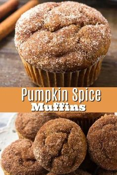 These moist pumpkin muffins have all the flavor of your favorite pumpkin pie - but in delicious muffin form. #pumpkin #pumpkinbread #cinnamon #cinnamonsugar #pumpkinspice #falldessert #pumpkindessert