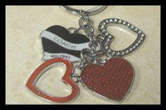 Red Black Key Chain Logo Keychain Made by Chanel C Diamond Free Box