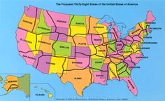 In 1973, a geography professor suggested that the U.S. redraw its antiquated state boundaries.