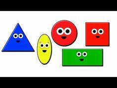 Shapes Song - YouTube Preschool Songs, Preschool Learning, Fun Learning, Kindergarten Math, Baby Songs, Kids Songs, Toddler Fun, Toddler Activities, Shape Songs