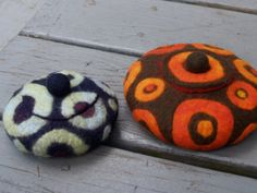 felted vessels with lids