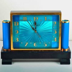 Art Deco Enamel Desk Clock