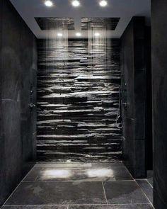 Circle Recessed Ceiling Cans Ideas For Home Shower Lighting Modern Master Bathroom, Modern Bathroom Design, Bathroom Interior Design, Master Bathrooms, Bathroom Designs, Modern Bathrooms, Bathroom Black, Boho Bathroom, Bathroom Mirrors