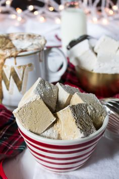 Gingerbread marshmallows and some boozy hot chocolate - perfect for these cold nights.  www.passthecookies.com