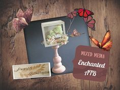 Mixed Media Enchanted ATB - Fernli Designs DT project of April