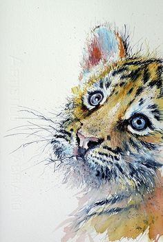 Tiger Cub is a painting by Kovacs Anna Brigitta which was uploaded on July 23rd, 2016.