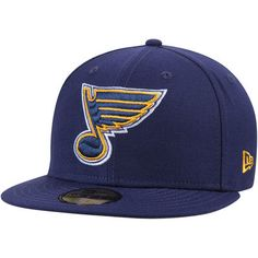 size 40 6f294 f7c66 New Era St. Louis Blues Navy Team Color 59FIFTY Fitted Hat