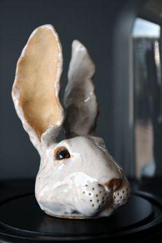 Ceramic Bunny Head - Wabbit Ed - By Rory Dobner