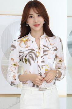 Las nuevas mujeres del invierno ocasional otoño básica del cordón blusa de la gasa impreso Top botones de la manga llena de flores blusa del tamaño extra grande