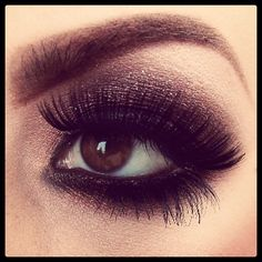 Bold eye. The lashes and eye makeup are just all around stunning. Can't wait to try this.