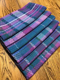 Set of 6 Custom Handwoven Towels, Bespoke, One-of-a-kind Dish Towels, Tea Towels, Loom Weaving, Hand Weaving, Kitchen Color Themes, Rustic Stools, Weaving Projects, Scottish Heather, Weaving Patterns