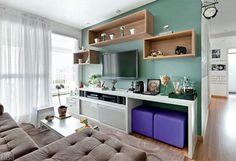Funcional e bonito Living Room Decor Tips, Rooms Home Decor, Home Living Room, Home Decor Hacks, Decoration Design, Small Space Living, Sweet Home, House Design, Furniture