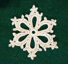 Irish Crochet Snowflake  pattern by Courtney Brock
