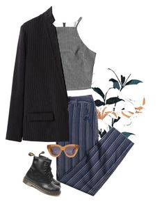 """""""come this far"""" by junk-food ❤ liked on Polyvore featuring Jagger, Giada Forte, Dr. Martens and Karen Walker"""