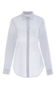 Striped Cotton Open Tie Back Shirt by TOME Now Available on Moda Operandi