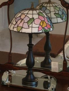Tiffany lamp--decorator says the base is from a real Tiffany lamp but the top is cake