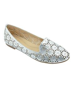 Silver Cutout Pendant Loafer