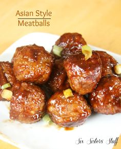 Asian Style Meatballs from Six Sister's Stuff are delicious and easy!