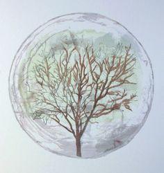 Tree of Life Watercolor Monoprint Painting by ANKarabin on Etsy, $200.00