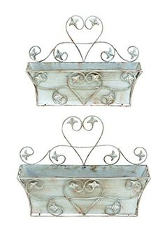 Benzara Classic Metal Wall Planter with Rustic Finish, Set of 2 Benzara http://www.amazon.com/dp/B00FTP29P0/ref=cm_sw_r_pi_dp_NfZ3vb0AZNAQ4