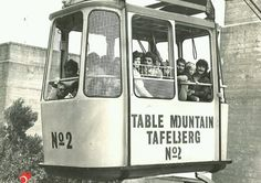 Old Table Mountain cable car, Cape Town - o gosh this car only took 8 people if I remember correctly! Old Pictures, Old Photos, Apartheid Museum, South African Air Force, Le Cap, Good Old Times, Cape Town South Africa, Table Mountain, Bus
