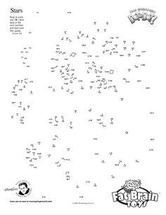 Dot To Dot Fun - Free printable, from our friends over at Monkeying Around, the original inventors of extreme dot-to-dots aimed at teens and adults! Appetite whetted with this free printable dot to dot? Order any of their fabulous books from Fat Brain Toys!
