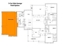 Modern Farmhouse Plan: 1,988 Square Feet, 3 Bedrooms, 2.5 Bathrooms - 9401-00108 Porch House Plans, Courtyard House Plans, House Plans One Story, House With Porch, Cottage House Plans, Best House Plans, Cottage Homes, French Country House Plans, Modern Farmhouse Plans
