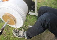Foot-powered washing machine made from recycled materials costs just $4