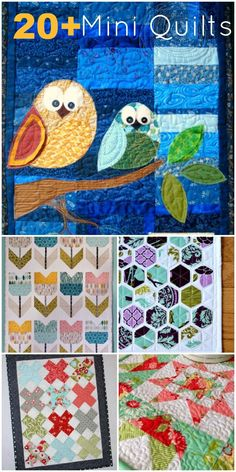 Learn some fun and simple sewing with mini quilt patterns. Great way to try a new technique.