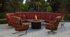 Think about how many you like to #entertain so there is enough seating for everyone. From the #barstools around your cooking area, to #chaise lounges around the #pool, to comfy chairs around the #firepit | 52 Designer Patio Ideas for Any Outdoor Space